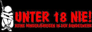 Logo der Kampagne Unter 18 nie!